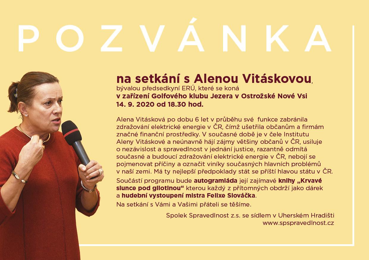 Setkání s Alenou Vitáskovou